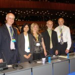 Rod Hay with the NZ delegation at a CITES meeting.