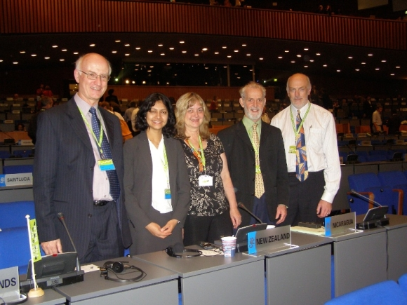 Rod with the NZ delegation at a CITES meeting.