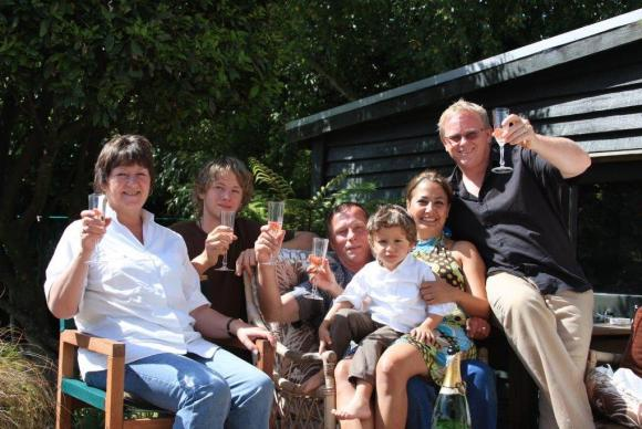 Terry and his family at Christmas.