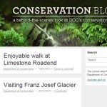 Screen shot of the Conservation Blog.