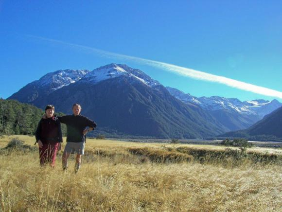 Terry and Kath tramping in Arthur's Pass.