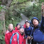 Ruud Kleinpaste and students on the Routeburn Track.