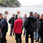 Prince Harry with Ulva Island Trustees and island owner, John Hunter.