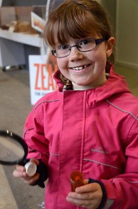 Samantha McPherson (age 8) discovers a bug.