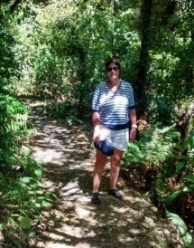 Diane Oliver on a scenic walk.