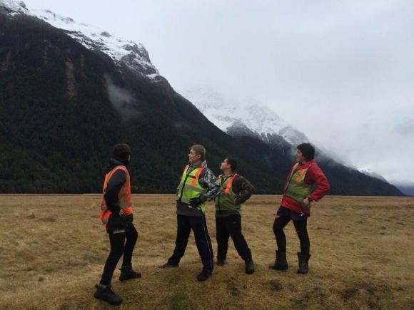 Fiordland College students in the Eglinton Valley.