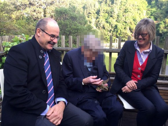 Lou pictured with Kerry Prendergast (Chair of the Endangered Species Foundation) and the generous donor who prefers to keep his identity private.