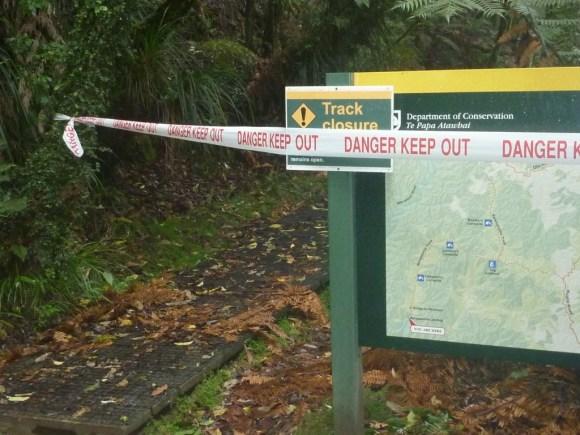 Whanganui track closure.