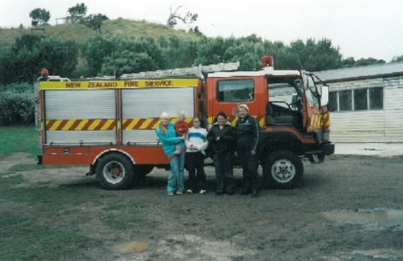 The Chatham Island Volunteer Fire Brigade truck.