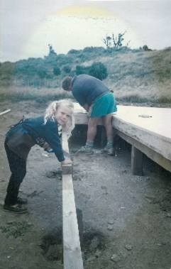 Allan and Holly Murphy building a house.