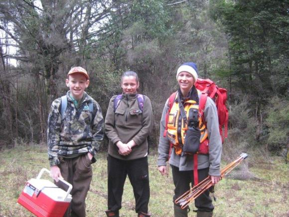 Liam and Siena meeting up with DOC Ranger Jenny Hayward.
