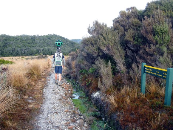 Heaphy Track and the Google Trekker. Photo by Peter Hiemstra