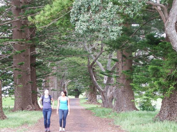 Taking a stroll with Daylyn on Motuihe Island