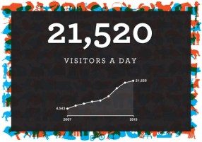 21,520 website visitors a day.