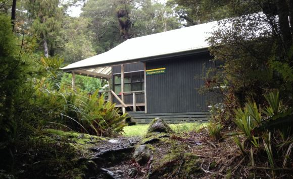 Mangahao Flats Hut in the Tararua Forest Park.