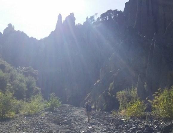 Walking near the Pinnacles.