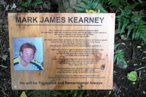 Mark James Kearney plaque.