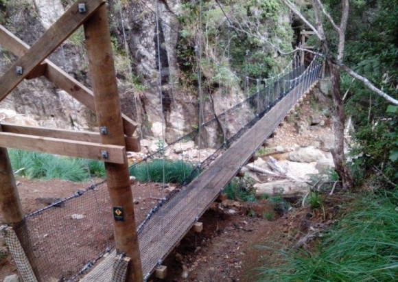One of five new bridges on Aotea/Great Barrier Island.