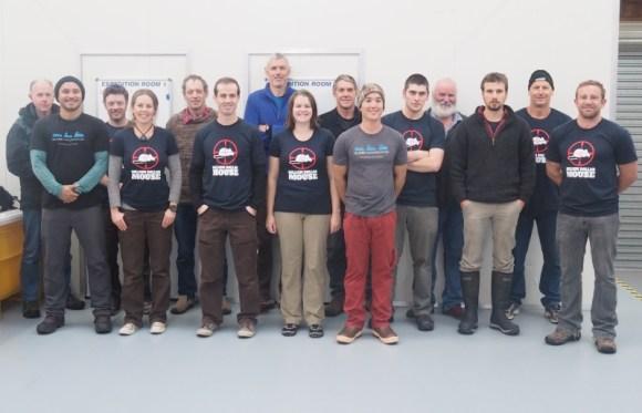 Antipodes Island Mice Eradication Expedition Team.