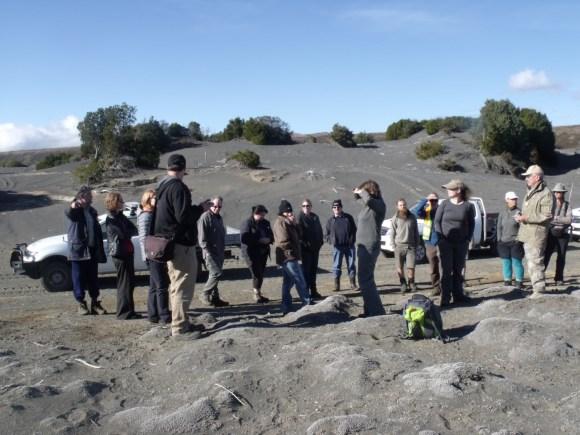 Field trip to the volcanic dunes. Photo: Michael Bergin