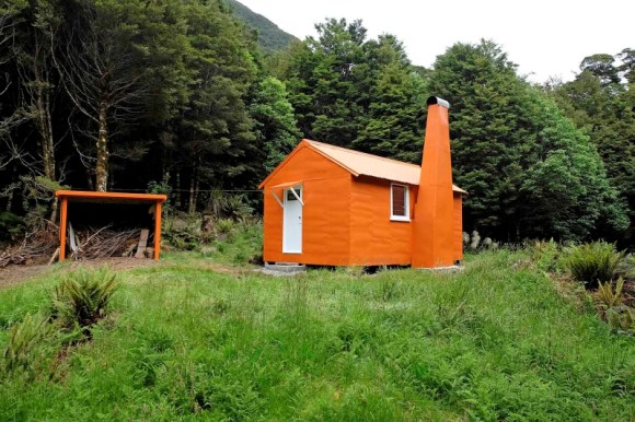 Roaring Billy Hut on completion, 2016.