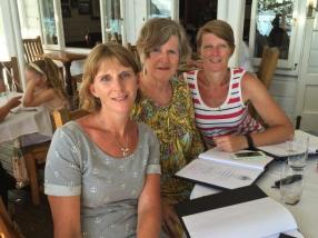 My sister, Mum and I out for dinner at the Duke of Marlborough Hotel, Russell.