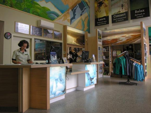 Working at our new Visitor Centre at Franz Josef.