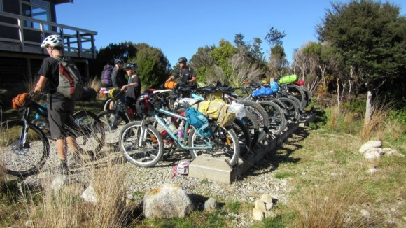 Full house at James MacKay Hut. Photo: Daryl Stephens.