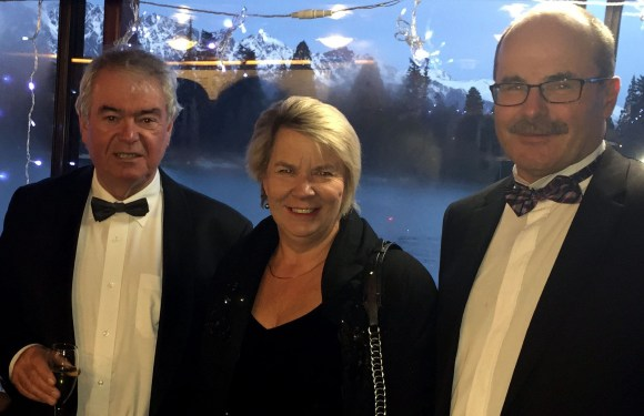 Real Journeys' Bryan Hutchins with Associate Minister of Conservation Hon. Nicky Wagner and Lou at the charity ball.