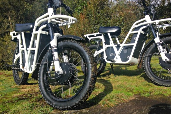 A close up look at the innovative new Ubco 2x2 bikes.