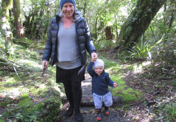 Corban and mum (Tracey) on their adventure.