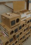 Translocation boxes. Photo: Mark O'Kane.