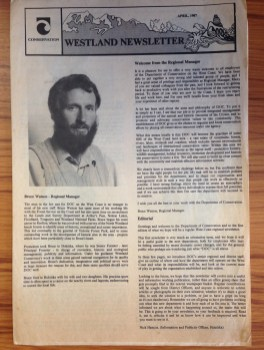 DOC West Coast Newsletter April 1987 featuring my dad, Bruce Watson.