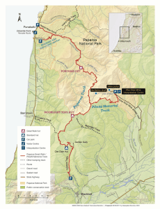 Paparoa Track map.