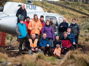The team ready to depart. Photo by Finlay Cox.