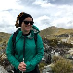Mary Fisher tramping the Kepler Track.