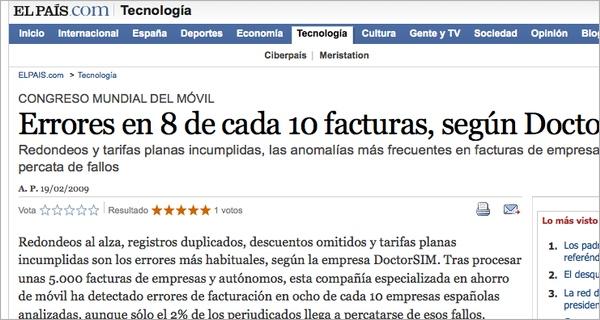 doctorSIM en El País