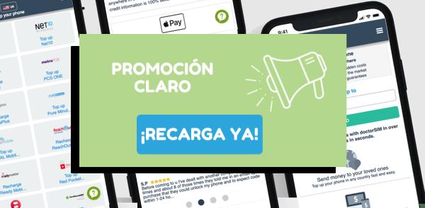 Promoción especial para recargas de Claro Guatemala