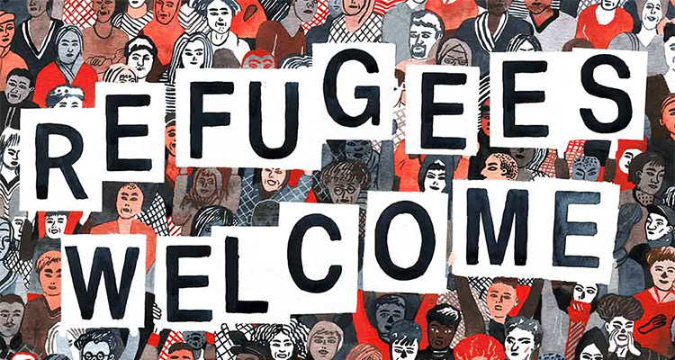 Refugees Welcome Sampler von Springstoff