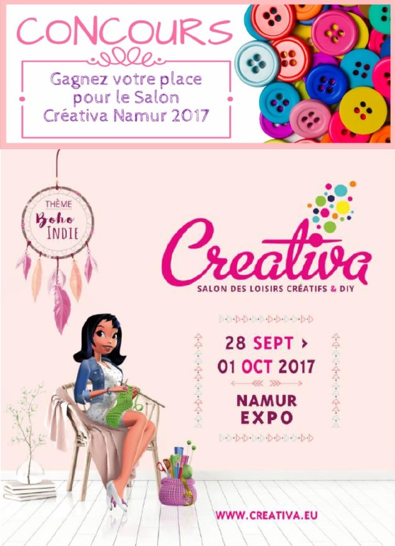 Concours creativa namur dodynette les tutos couture de for Salon creativa montpellier 2017