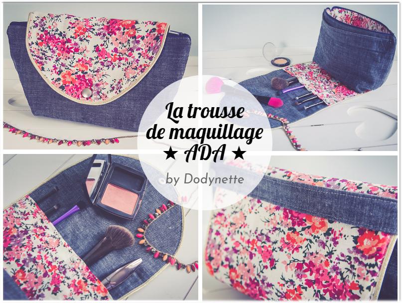 Tuto couture : La trousse de maquillage ADA
