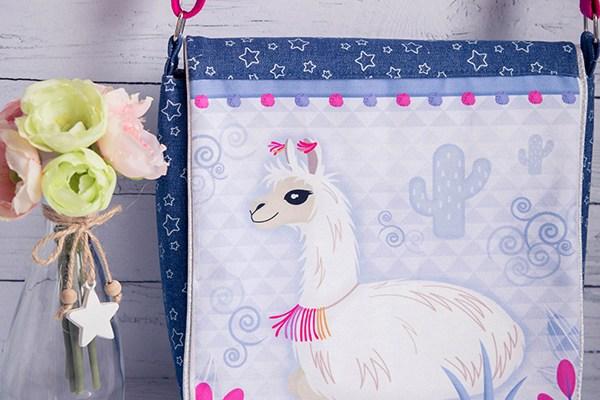 patron couture enfance ados la besace lama