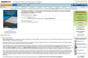 The E-Book Handbook ebook e book create format publish market sell kindle amazon ipad apple ibooks itunes barnes and noble pubit nook free for dummies
