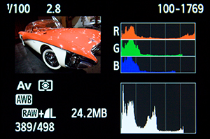 Canon 70D RGB Histogram learn use how to book guide manual dummies