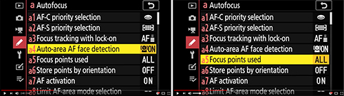 Nikon Z 7 Z 6 Custom Setting menu setup