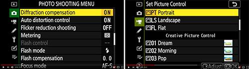 Nikon Z 7 Z 6 menu