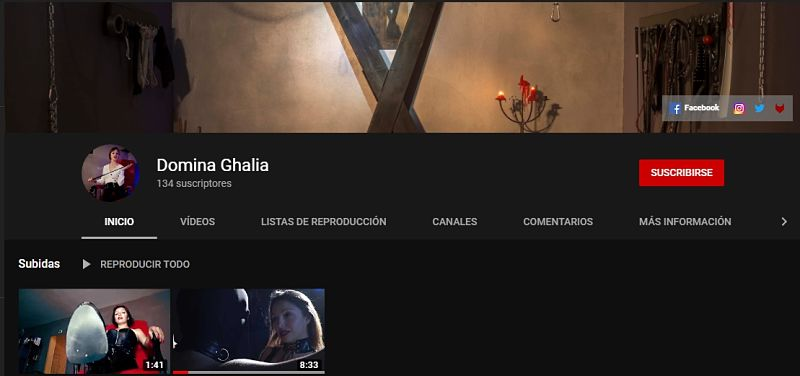 Youtube Domina Ghalia