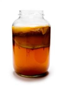 Glass Jar of Kombucha
