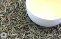 Yellow Tea Huang Shan Mao Feng Leaf and Liquor