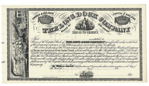 Stock Certificate from The Long Dock Company